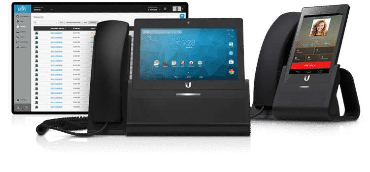 Powered by Android, the UniFi VoIP Phones are enterprise desktop smartphones designed to seamlessly integrate into the UniFi Enterprise System.